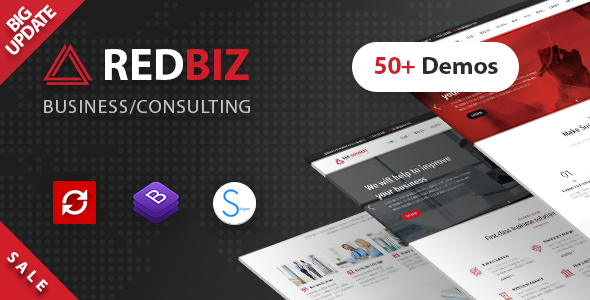 RedBiz - Business & Consulting Multi-Purpose Template