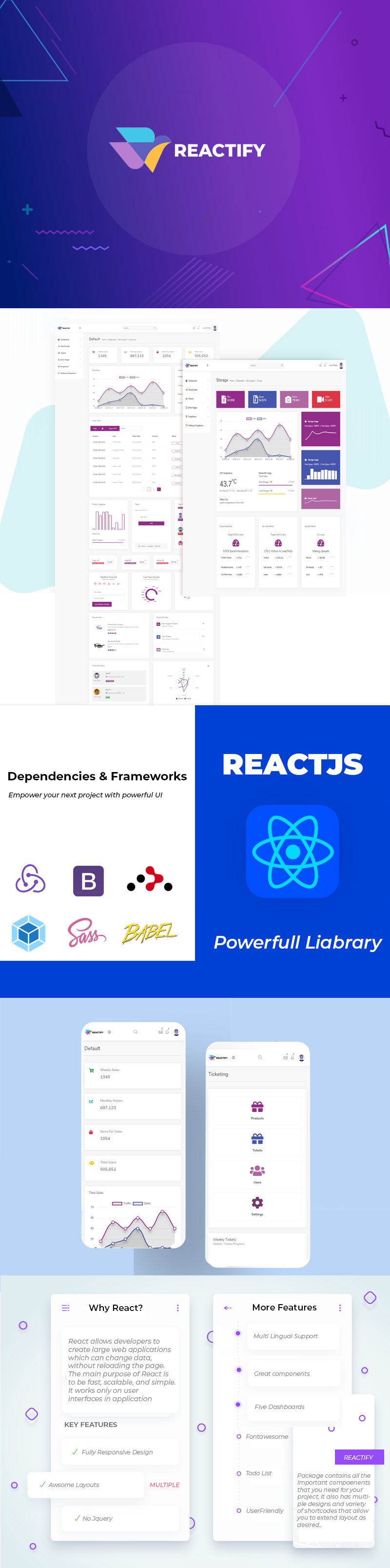 Reactify - Powerful React Admin Template - 1