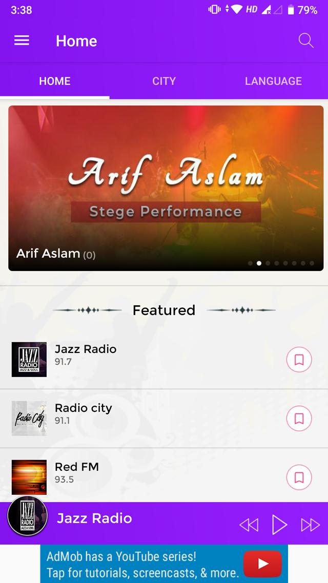 Android Radio App (Online Radio, Streaming, M3U8, M3U, MP3, PLS, AAC, FM)