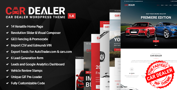 Car Dealer v1.0.4 – The Best Car Dealer Automotive Responsive WordPress Theme