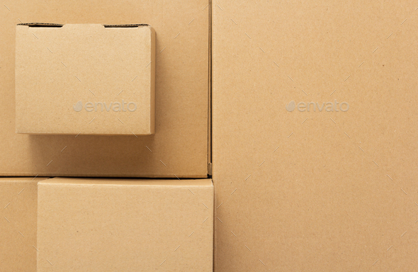 cardboard box as background - Stock Photo - Images