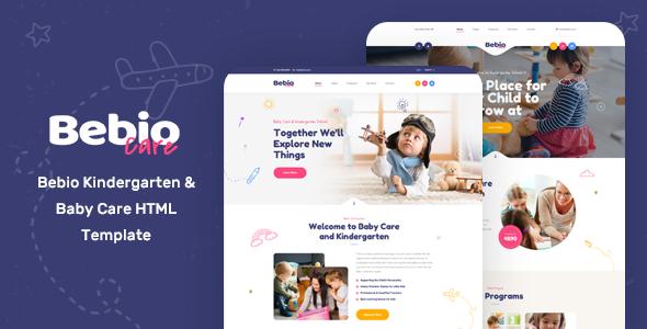 Bebio - Kindergarten & Baby Care HTML Template