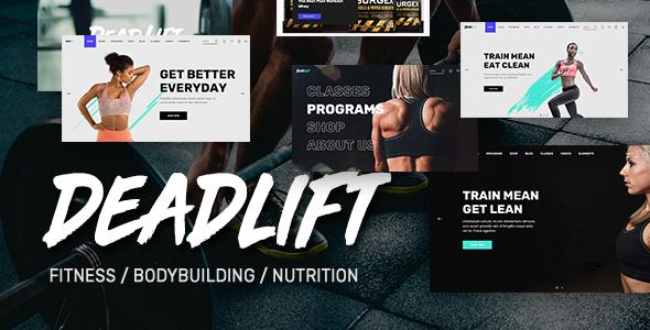 Deadlift - Fitnesss and Bodybuilding WordPress Theme