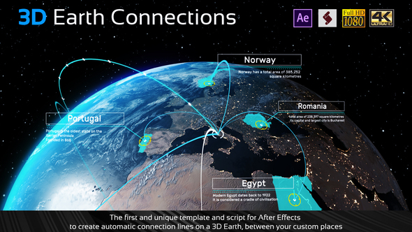 Earth Map Connections - 14