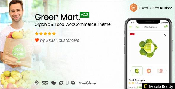 GreenMart – Organic & Food WooCommerce WordPress Theme Free Download | Nulled