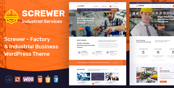Screwer - Factory & Industrial Business WordPress Theme