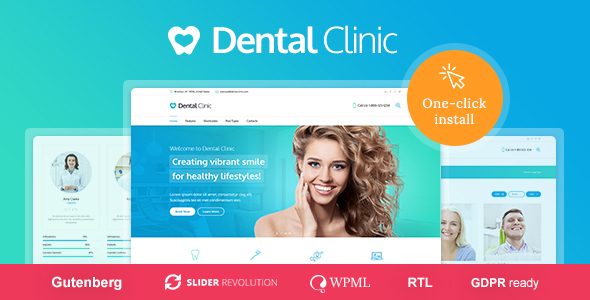 Download Medical & Dentist WordPress Theme – Dental Clinic nulled 01 dental clinic preview