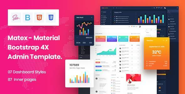 Matex Admin Material Design Dashboard Html5 Template