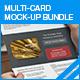 Multi-Card Mock-up Bundle - GraphicRiver Item for Sale