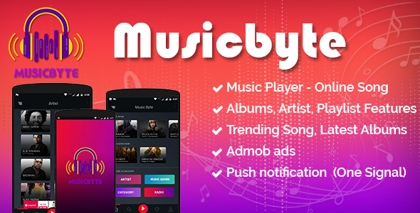 Download MusicByte (Android) - online Mp3 music player application