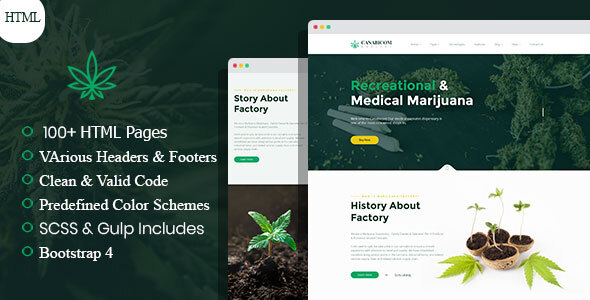 Canabicom - Medical Cannabis HTML Template