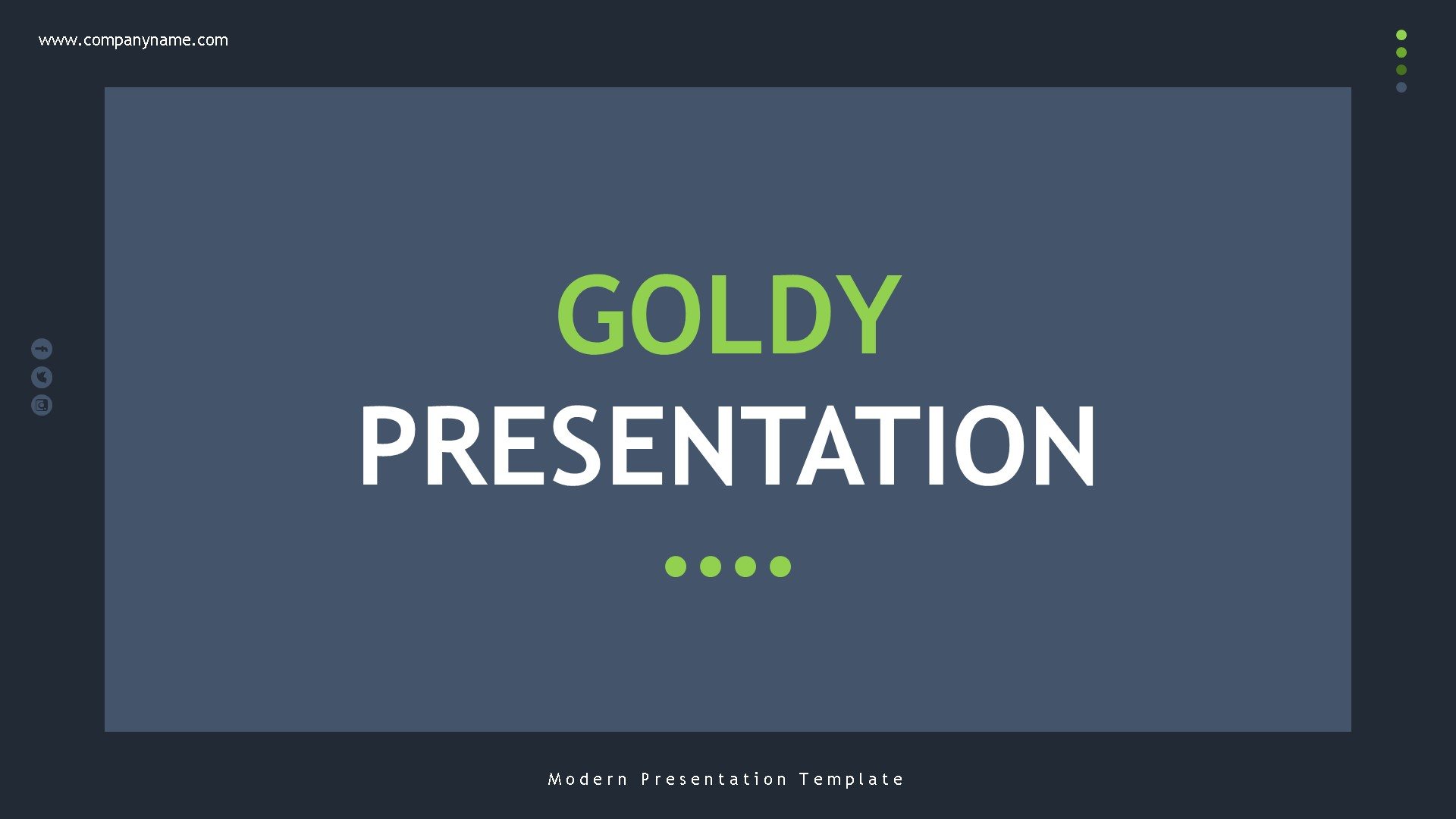 Goldy - Creative Interior PowerPoint Template
