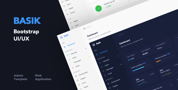 Basik - Web Application and Admin Template