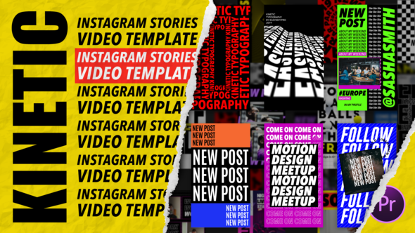 Kinetic Instagram Stories   MOGRT for Premiere Pro
