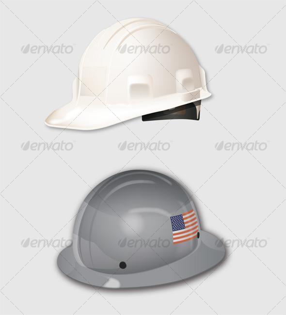 Construction Hats - Man-made Objects Objects