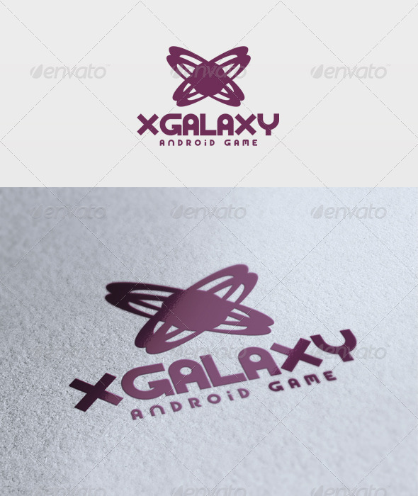 X Galaxy Logo - Vector Abstract