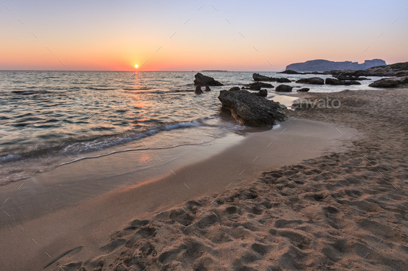 Falasarna Beach Crete Island Greece