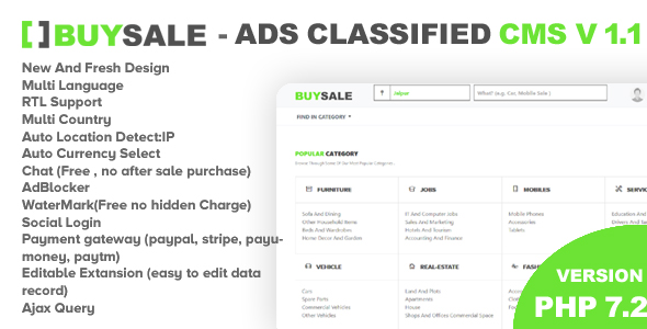 Latest] Premium Classified Ads Php Script - BuySale Classified