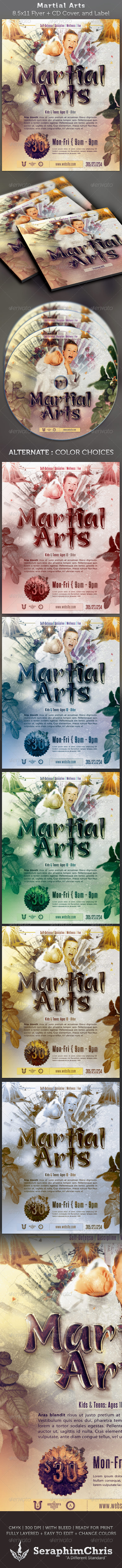 Martial Arts Full Page Flyer & DVD Template - Sports Events