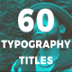 Minimal Typography Titles - VideoHive Item for Sale