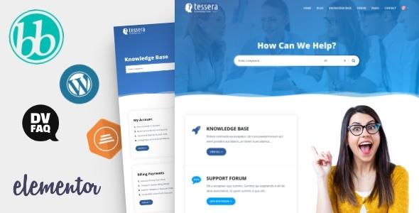 Download Tessera – Knowledge Base & Support Forum WordPress Theme Free Nulled
