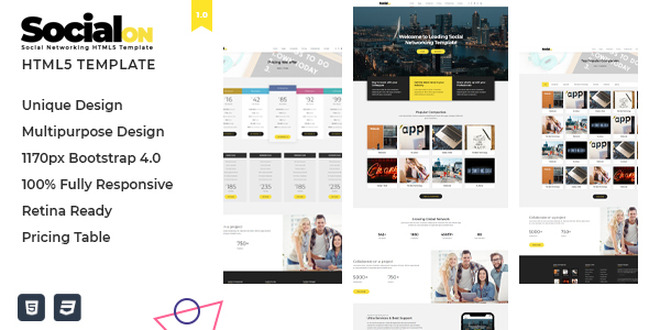 Beautiful Social Net - Corporate Networking Connection HTML5 Template