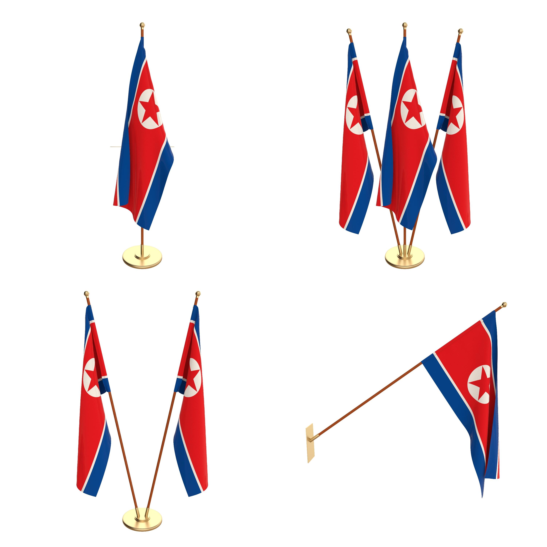 North Korea Flag Pack
