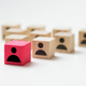 Leadership concept using red people icon cube among other cubes - PhotoDune Item for Sale