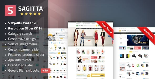 Sagitta - Mega Store Responsive Magento 1 & 2 Theme