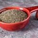 Chia Seeds in a Red Bowl - PhotoDune Item for Sale