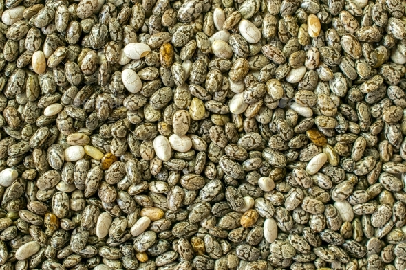 Chia Seeds Close up Background - Stock Photo - Images