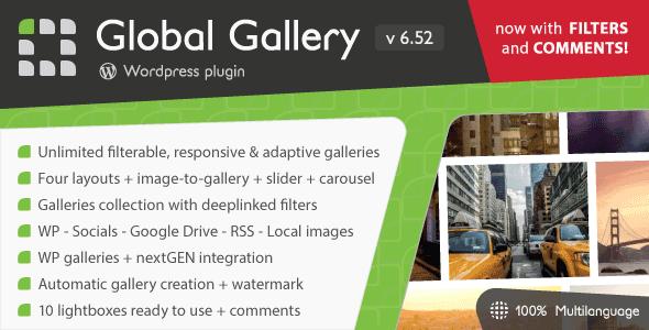 Download] Global Gallery – WordPress Responsive Gallery Nulled