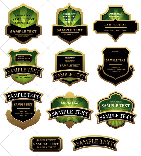 Set of labels - Decorative Vectors