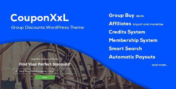 CouponXxL - Deals, Coupons & Discounts WP Theme