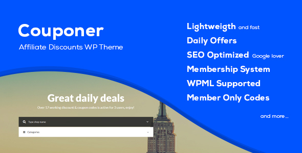 Download Couponer – Coupons & Discounts WP Theme nulled couponer