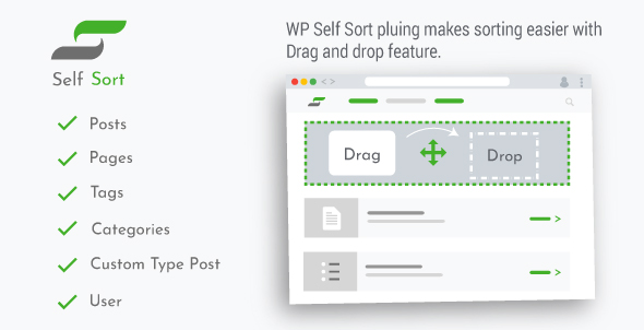 Download WordPress Self Sort : Order post | pages | Categories | Custom Post Type | User | Plugins Free Nulled