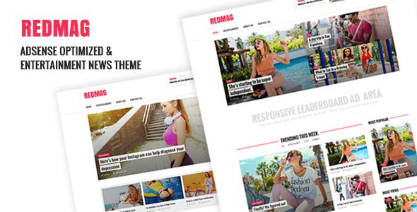 RedMag – AdSense Optimized & Entertainment News Theme Free Download