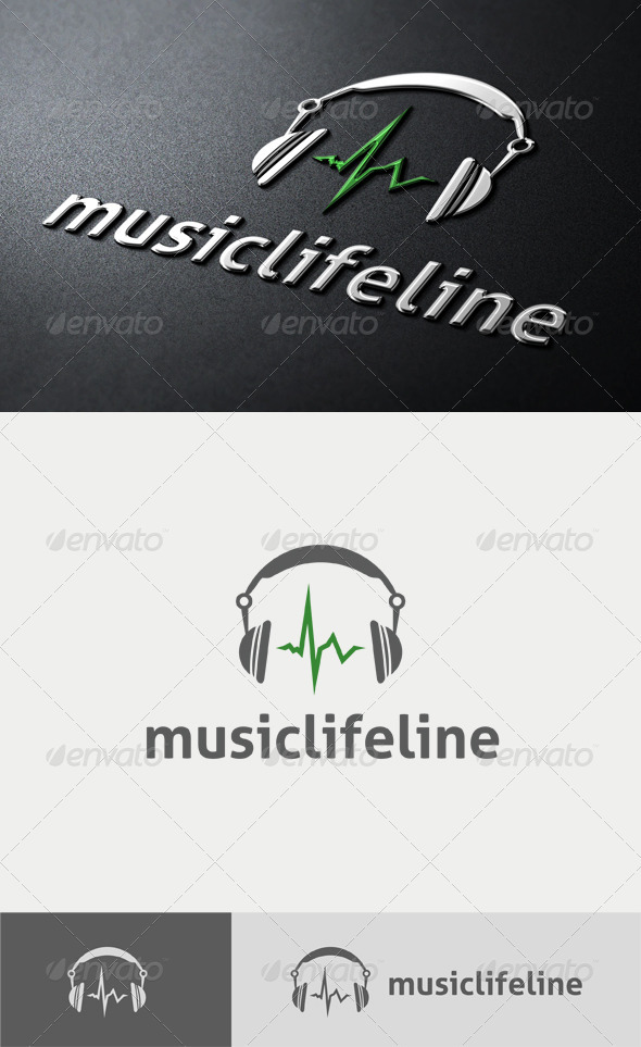 Music Life Line Logo - Objects Logo Templates