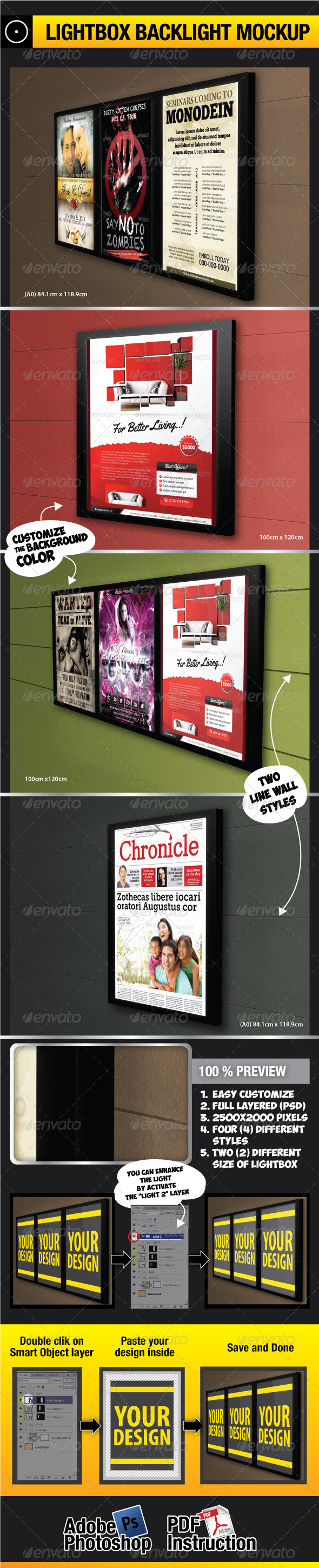 Lightbox Backlight Mockup - Miscellaneous Displays