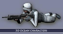 3D OCEAN CHARACTERS