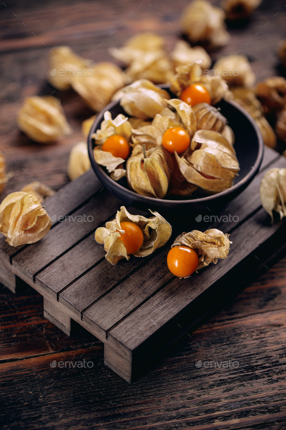 Physalis peruviana or cape gooseberry - Stock Photo - Images