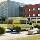 Ambulance vehicles on an hospital parking. Emergency transport. Medicine - PhotoDune Item for Sale