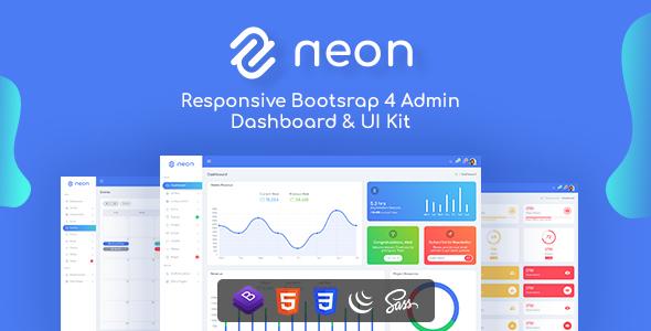 Neon - Responsive Bootstrap 4 UI Kits Admin Template