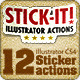 Stick-it ! Illustrator Sticker Actions - GraphicRiver Item for Sale