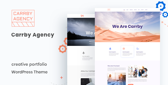 Carrby – Agency Portfolio WordPress Theme Free Download