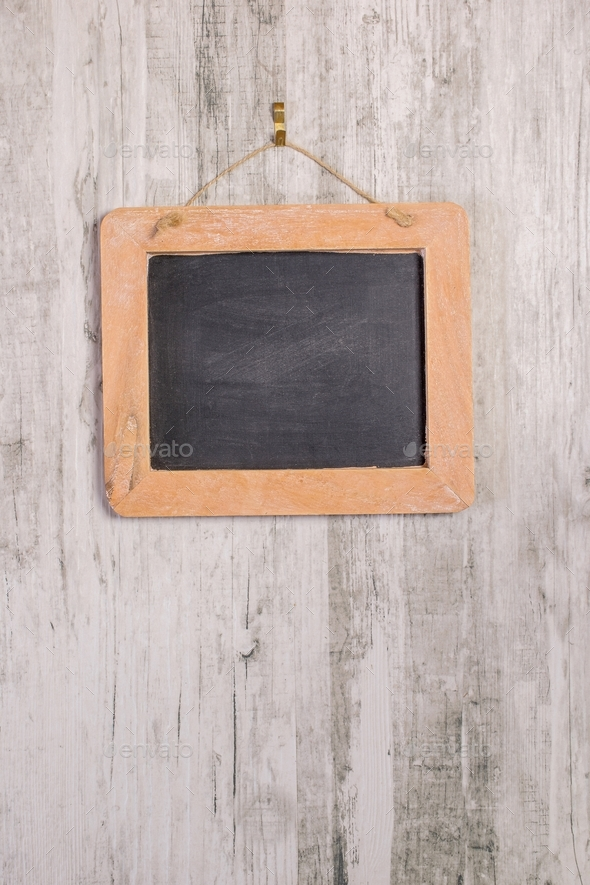 A Wooden Framed Chalkboard - Stock Photo - Images