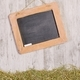 A Blank Chalkboard and Straw Grass - PhotoDune Item for Sale