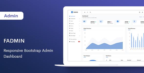 Fadmin - Responsive Bootstrap Admin Dashboard