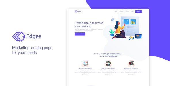 Edges - Multipurpose Landing Page Template by AlexaTheme