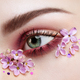 Eye makeup woman with a lilac flowers - PhotoDune Item for Sale